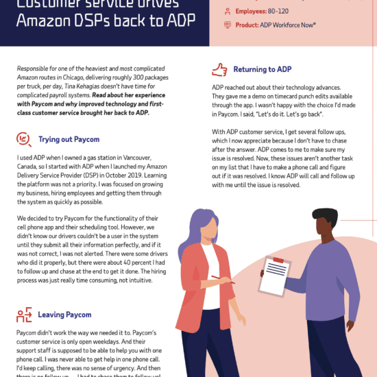 Customer service drives Amazon DSPs back to ADP