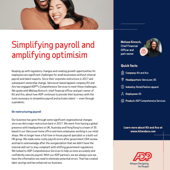 Simplifying payroll and amplifying optimism